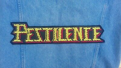Pestilence embroidered logo back patch death metal napalm asphyx dissection