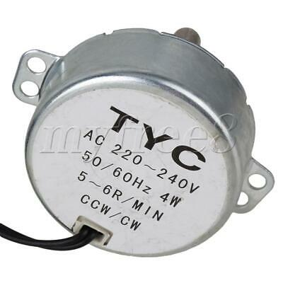 Silver 5-6RPM Synchronous Motor AC 220V Torque 4KGF.CM 4W for Massagers