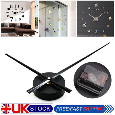DIY Large Silent Quartz Wall Clock Movement Hands Mechanism Repair Parts Tool UK