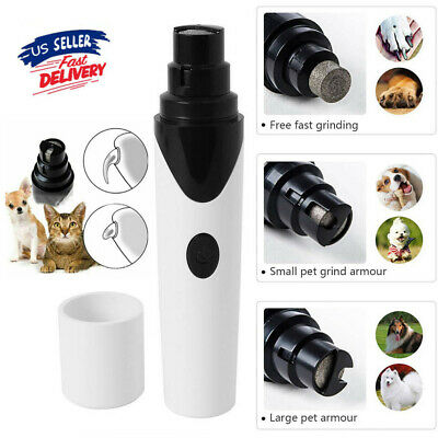 Professional Pet Dog Cat Nail Trimmer Grooming Paws Grinder Electric Clipper Kit
