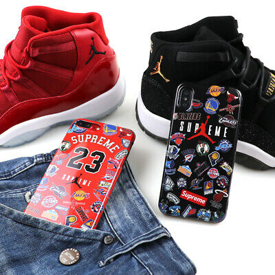 6c79736f9b86 Air Jordan 23 NBA Smooth Shockproof Hard Case Cover For Apple iPhone6 7 8
