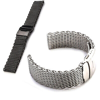 0d251ccddad 18~24mm Shark Mesh Stainless Steel Watch Band Strap fits Breitlin Thick    Heavy