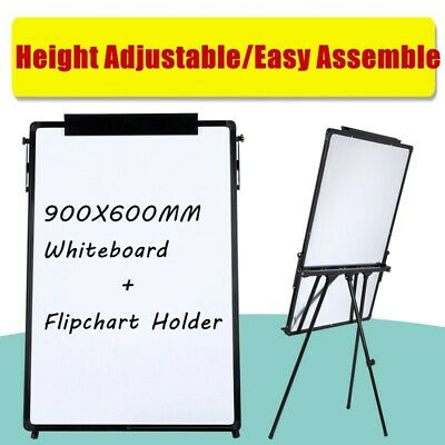 Portable Magnetic Dry Wipe Whiteboard Telescopic Easel Tripod White Board Stand