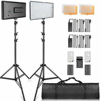 SAMTIAN LED luz Video Kit con Soporte LED Panel Set Kit de (TL-240S 2 KIT)