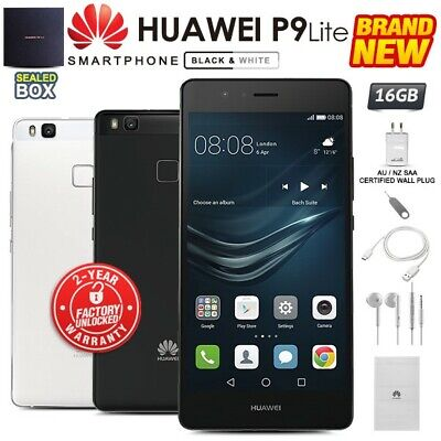 New & Sealed Factory Unlocked HUAWEI P9 Lite Black White 16GB Android Smartphone
