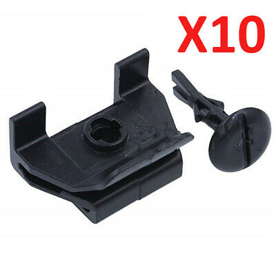 10 Set Balck Car Front Fender&Bumper Cover Clip Kit Fit For Toyota Camry Corolla