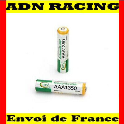 2 PILE ACCU BATTERIE RECHARGEABLE AAA LR03 1350mAh 1.2V NI-MH NIMH LR3 R03 R3