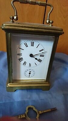 A Superb Antique Carriage Clock With Alarm
