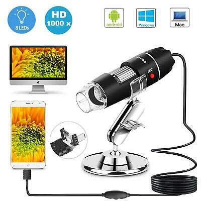 1000X Zoom 3in1 HD 1080P USB Microscope Digital Magnifier Endoscope Video Camera