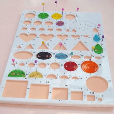 Paper DIY Quilling Tools Template Mould Board Slotted Tool Kit Craft Work JA