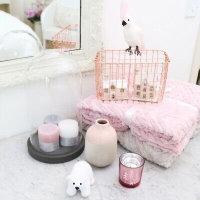 Sass And Belle 2 Wire Mesh Copper Rose Gold Baskets