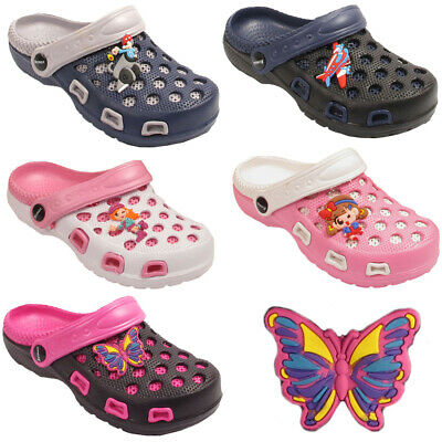 Kids Girls Boys Infant Contrast Colors Clogs Slip On Flip Flop Slippers Shoes