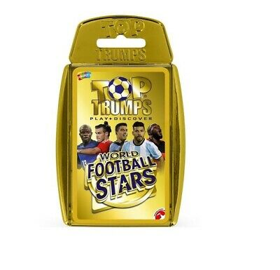 Top Trumps Educational Fun Football Card Game - WORLD FOOTBALL STARS (Gold Case)