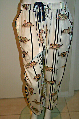 BNWT Peter Alexander Women's Kitten Sateen Pyjama Pants Size Large, RRP:$79.95