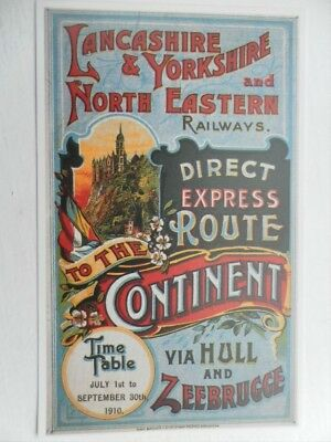 Postcard Lancashire And Yorkshire And North Eastern Railways - Direct Express Ro