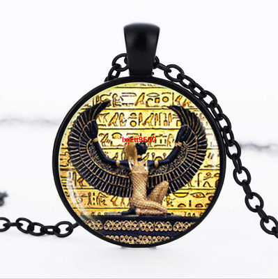 Egyptian , ancient egypt photo Glass Dome Chain Pendant Necklace jewelry