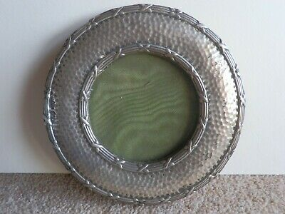 Antique Chester Silver Circular Picture Frame In Need Of Restoration