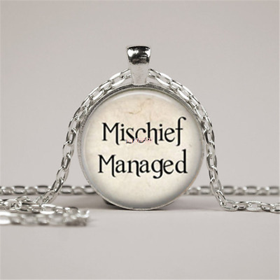 Mischief Managed Harry Potter Quote Necklace Harry Potter Quote Pendant jewelry