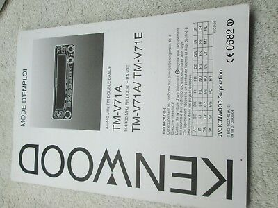 KENWOOD TM-V71A /E Mini-Manual by Nifty Accessories - $18 95