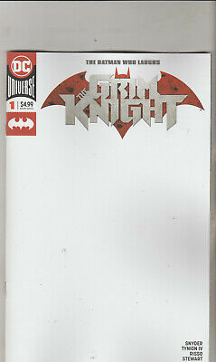 Dc Comics Batman Who Laughs Grim Knight #1 May 2019 Blank Variant 1St Print Nm