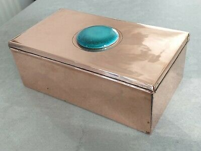 Newlyn Copper - Hinged Box with Ruskin Style Roundel