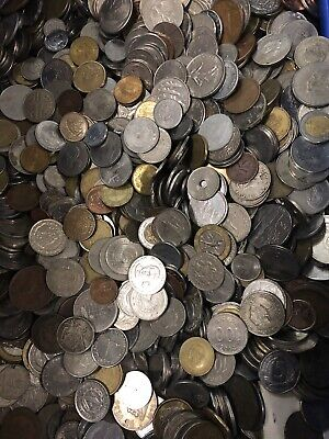 1 Pound Of Mixed Foreign Coins Lot