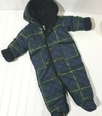 d7fc8af9f Ralph Lauren Infant Snowsuit Baby Size 6 Months Blue Green Plaid Polo Pony  Logo