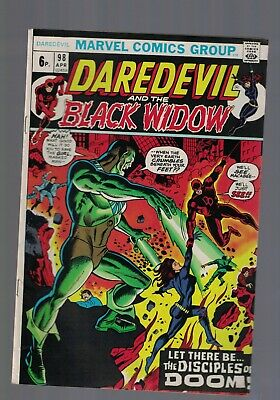 Marvel Comics DAREDEVIL and the Black Widow No 98 April 1973 6p Price variant