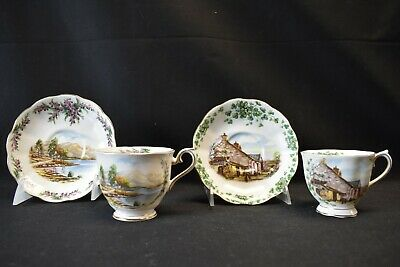 Royal Albert England Londonderry Air & Road To The Isles Pair of Cups & Saucers