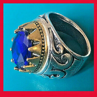 Gorgeous Medieval Ancient Roman Ring SILVER With BLUE stone