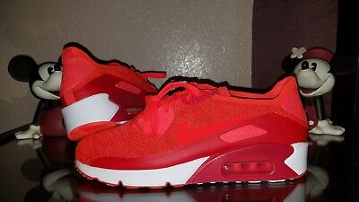 7d1f682f27a1 New Nike Air Max 90 Ultra 2.0 Flyknit Men s Red White Running Shoes 875943- 600