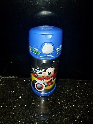 Thermos Funtainer 12 Oz Bottle Drink Container Mickey Donal BLUE Cold 12 hrs NEW