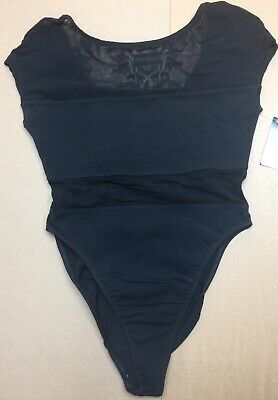 Harley-Davidson Women's Black Leotard body suit with sheer panels XL 98377-95VW