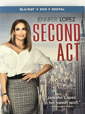 Second Act (BLU-RAY ONLY 2019) Case+Artwork+Slipcovers INCLUDED!!!