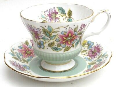 Outstanding Royal Albert Jacobean Pale Green Cup and Saucer