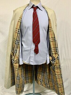 TRENCH BURBERRYS CAPPOTTO UOMO MADE IN ENGLAND TG.56 Coat Man ORIGINAL  VINTAGE 91826c51808