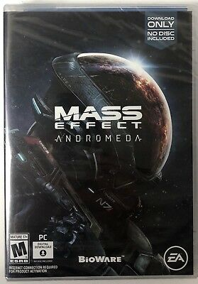 Mass Effect: Andromeda (PC, 2017) NO DISC, Brand New, Sealed, Trusted US Seller