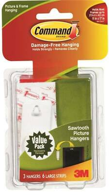 Command 17042 Saw tooth Picture Hanger 1-1/8 in 5 lb Plastic White
