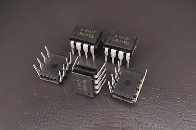 Lot of 5 6N137 Avago Single Channel Optocoupler Logic Out 10MBd 50mA 8-PDIP NOS