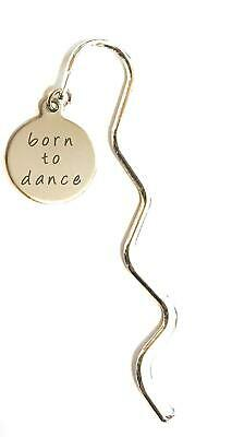 FizzyButton Gifts Born to Dance Stainless Steel disc Mini Bookmark in Gift Bag