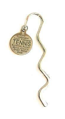 FizzyButton Gifts Tennis Stainless Steel disc Mini Bookmark in Gift Bag