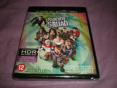 suicide squad 4K ultra hd + blu ray + digital neuf sous blister