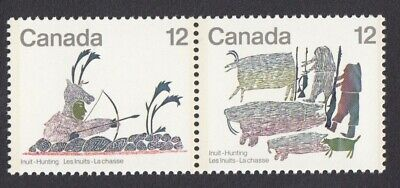 Inuit Hunting Archer, Hunters - Canada 1977 MNH #750-751 - Lithography q07