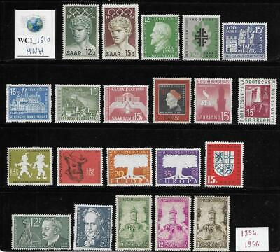 WC1_1610 GERMANY. SAAR. Useful lot of 1950s stamps. MNH