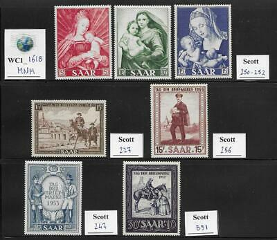 WC1_1618 GERMANY. SAAR. Beautiful lot of .. X-Large 1953-1958 stamps. MNH