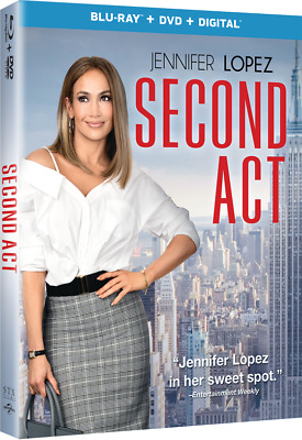 Second Act (Blu-ray + DVD + Digital) Brand New SHIPS TODAY