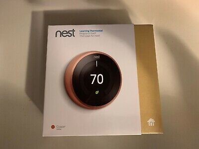 Nest Learning Thermostat 3rd Generation, Copper, Works with Amazon Alexa NEW