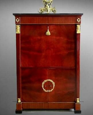 Antique  French Emire Bar Cabinet Dispaly Liquor Mahogany a truly unique piece