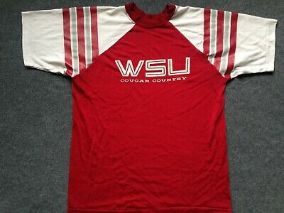 new product dfde9 6516e VTG WASHINGTON STATE Cougars T SHIRT 80s COUGAR COUNTRY jersey starter wsu  L XL