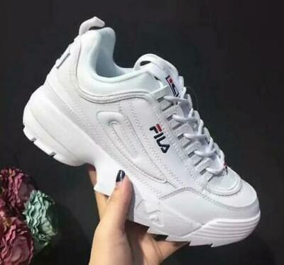 FILA New Womens Disruptor II 2 Sneakers Casual Athletic Shoes Unisex Size UK 3-9